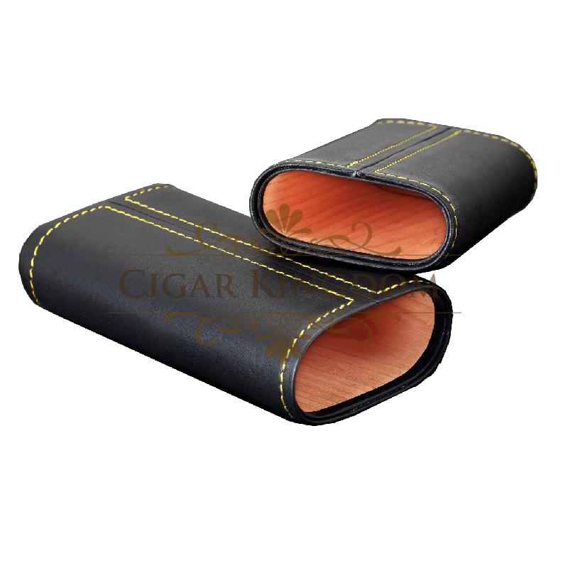SIGLO Cedar Leather Case - Yellow Stitch