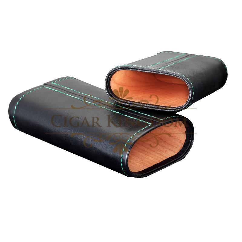 SIGLO Cedar Leather Case - Green Stitch