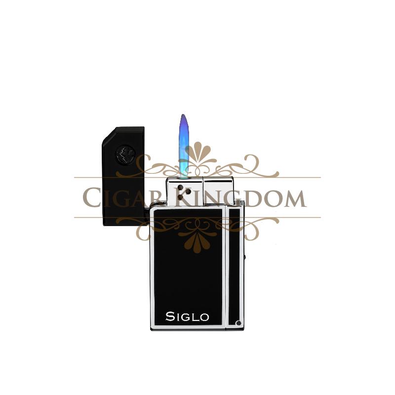 SIGLO Chrome Lighter - Obsidian Black