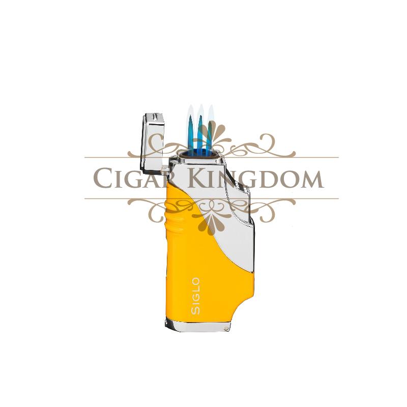 SIGLO Triple Flame Lighter - Yellow