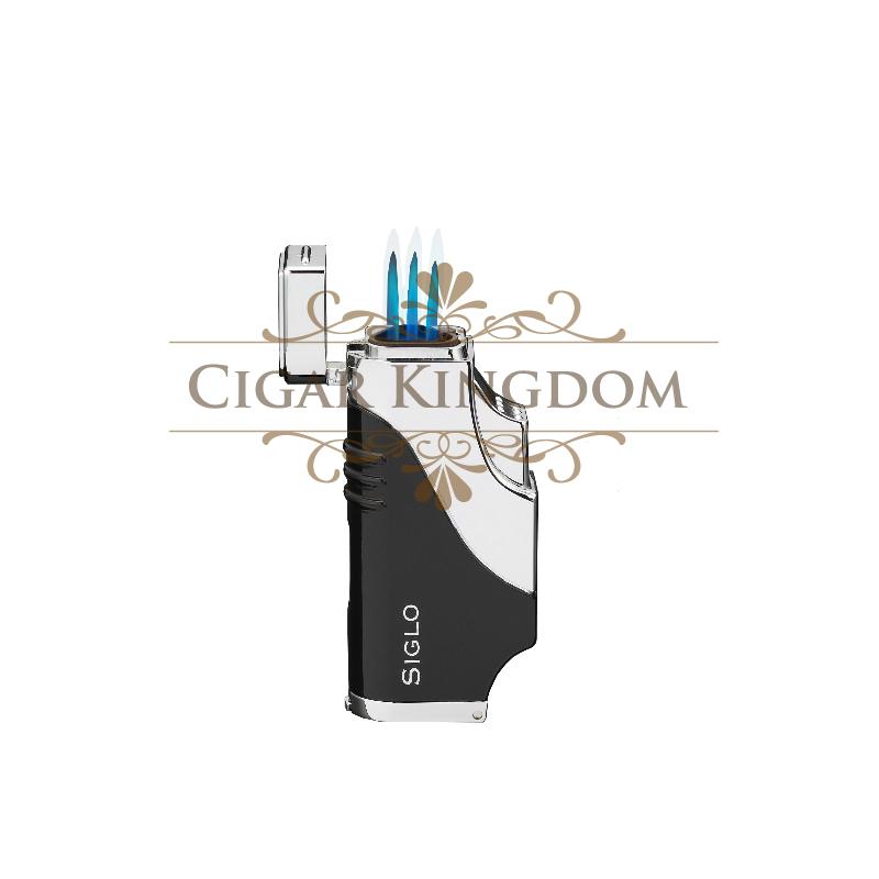 SIGLO Triple Flame Lighter - Black