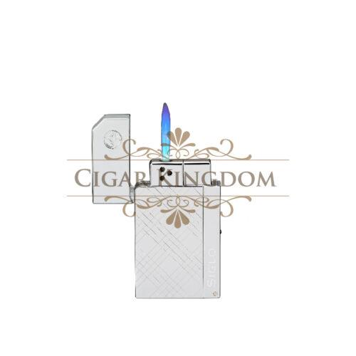 SIGLO Chrome Lighter - Crisscross
