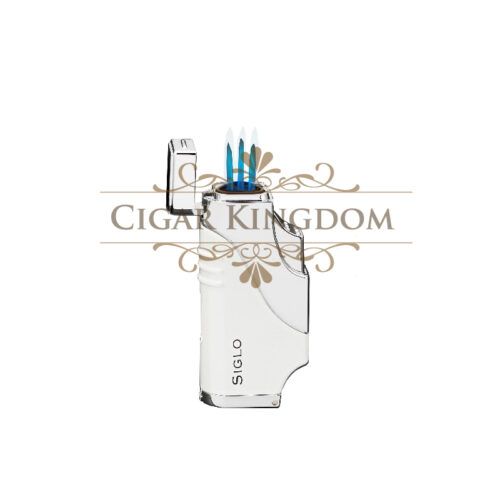 SIGLO Triple Flame Lighter - White