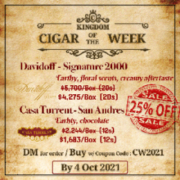 🔔 | 25% off discount (Limited Inventory) | Cigar Of The Week (2nd week)
