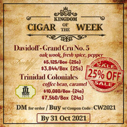 🔔   25% off discount (Limited Inventory)   Cigar Of The Week (Until Month End!!)
